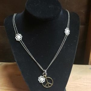 Lucky Brand Peace Fashion Necklace